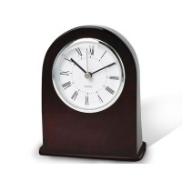 Wooden Analog Desk Clock with Alarm