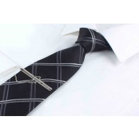 Silk Tie Black Color with Stripes