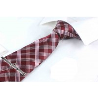 Best Formal Tie Maroon with White Stripes
