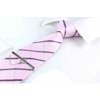 Neckwear Tie for men Light Pink Color with Stripes