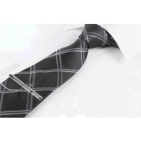 Silk Tie for Men Black Color Casual Wear