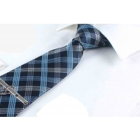 Neck Tie Dark Blue with Stripes for Men
