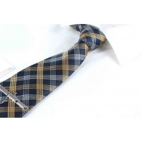 Neck Tie Navy Blue with Stripes for Men