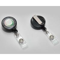 Reel Badge Round Shape with Epoxy Black