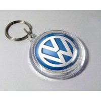 Acrylic Round Shape Keychain with Logo