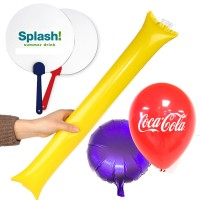 Promotional Cheer up Sticks Balloons, Hand fans with Printing