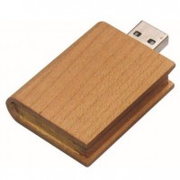 Book shape wooden USB Flash Drive