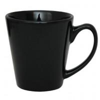 Coffee Mug Ceramic Conical Black