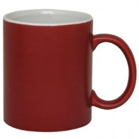 Coffee Mug Ceramic Matt Burgundy Matrix