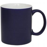Coffee Mug Ceramic Matt Dark Blue Matrix