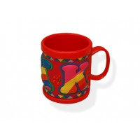 Coffee Mug Plastic Red