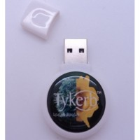 Doming Round Logo USB Flash Drive