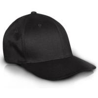Flexfit Cap 6 Panel Cool n Fit Plain Black