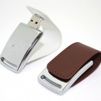Metal leather Cover USB Flash Drive