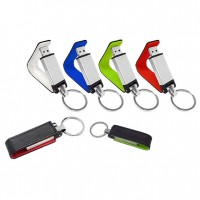 PU Leather Cover Metal USB Flash Drive