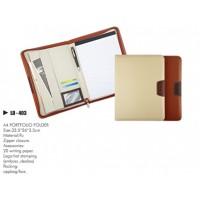 Pu Portfolio Folder with zipper closure