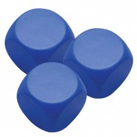 Pu Stress Ball - Blue Square