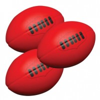 PU Stress Ball - Rugby Shape Red