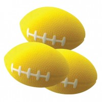 PU Stress Ball - Rugby Shape Yellow
