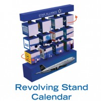 REVOLVING STAND CALENDER CUBE