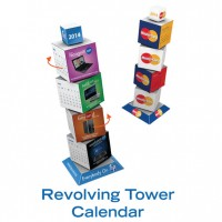 REVOLVING TOWER CALENDER CUBE