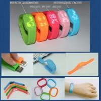 Silicone Wrist Clock USB Flash Drive