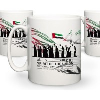 Sublimation Mug with Dubai National Day Logo Heat Transfer