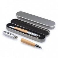 Wooden Barrel USB Flash Drive Pen