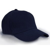 Heavy Brushed Cotton Cap 5 Panels Full Navy Blue