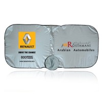 Car Sunshade Nylon Silver Black - Square Shape